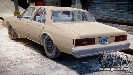 Chevrolet Impala 1983 pour GTA 4 est un droit