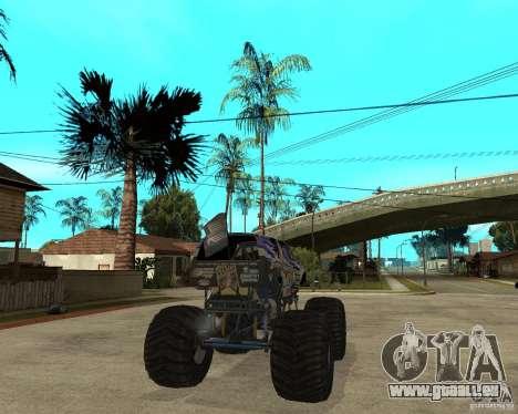 Bounty Hunter pour GTA San Andreas sur la vue arrière gauche