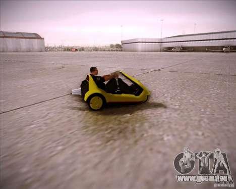 Sinclair C5 pour GTA San Andreas vue arrière