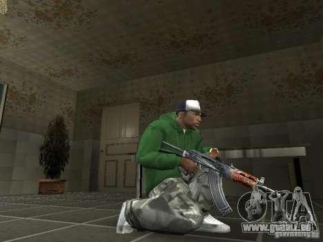 Pak intérieur armes V2 pour GTA San Andreas quatrième écran