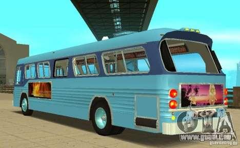 GMC Fishbowl City Bus 1976 pour GTA San Andreas sur la vue arrière gauche