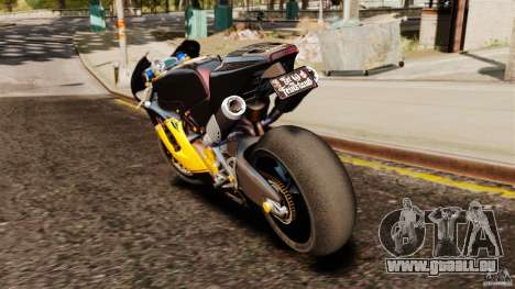 Ducati Desmosedici RR 2012 für GTA 4 hinten links Ansicht