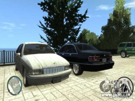 Chevrolet Caprice pour GTA 4 est une gauche