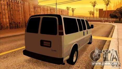 GMC Savanna 2500 für GTA San Andreas rechten Ansicht