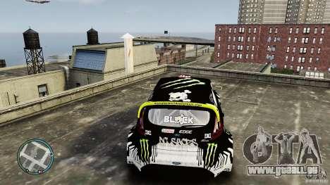 Ken Block Ford Fiesta 2011 für GTA 4 Rückansicht
