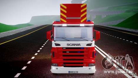 Scania R580 Fire ladder PK106 [ELS] für GTA 4 obere Ansicht