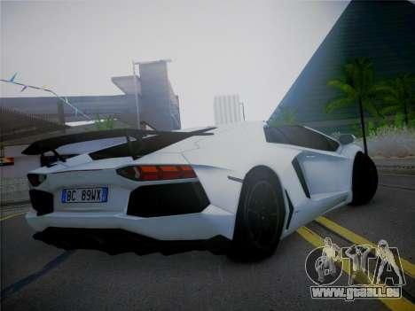 Lamborghini Aventador LP700-4 Roadstar pour GTA San Andreas laissé vue