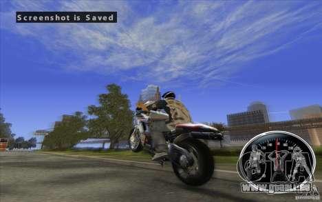 Ducati 1098R pour GTA San Andreas laissé vue
