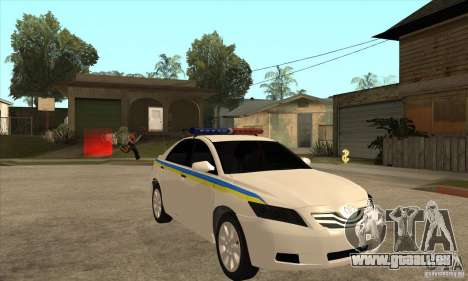 Toyota Camry 2010 SE Police UKR pour GTA San Andreas vue arrière