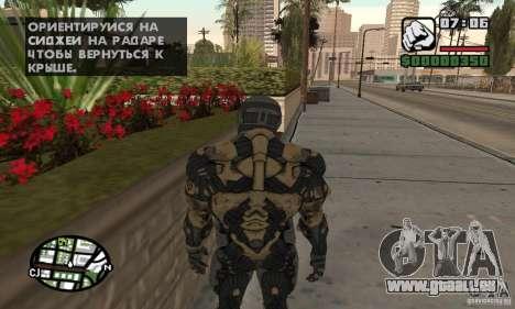 Crysis skin pour GTA San Andreas troisième écran