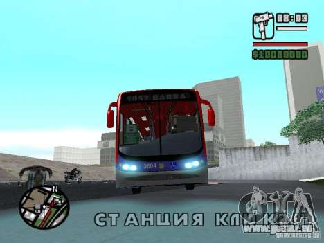 Busscar Urbanuss Pluss VW 17-230 EOD Alongado für GTA San Andreas linke Ansicht