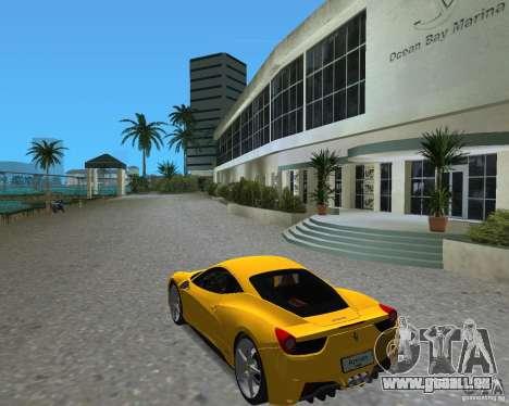 Ferrari 458 Italia für GTA Vice City rechten Ansicht