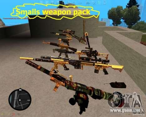 Smalls Chrome Gold Guns Pack pour GTA San Andreas