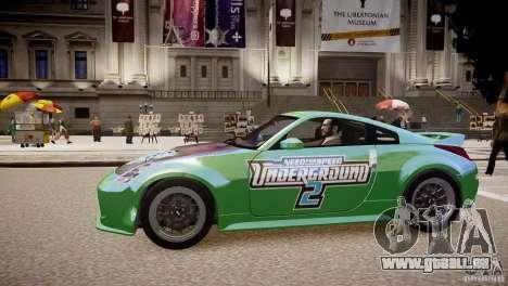 Nissan 350Z Underground 2 Style pour GTA 4 est une gauche