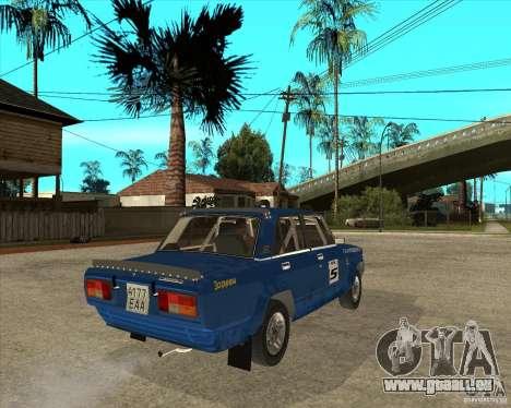 LADA 2105 VFTS Rallye für GTA San Andreas zurück linke Ansicht