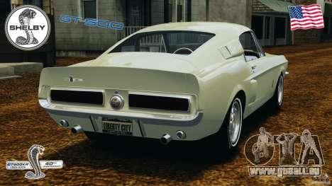 Shelby GT 500 pour GTA 4 Vue arrière de la gauche
