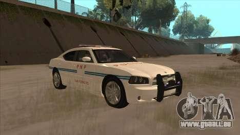 Dodge Charger PNP SAN FIERRO pour GTA San Andreas vue arrière
