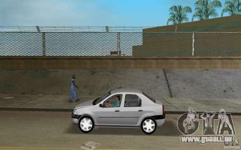 Dacia Logan 1.6 MPI pour une vue GTA Vice City de la gauche