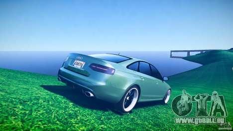 Audi RS6 2009 pour GTA 4 est une vue de dessous