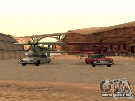 Voiture-avion pour GTA San Andreas vue arrière