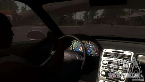 Acura NSX Stock pour GTA San Andreas vue de dessus