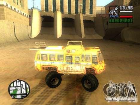 Bullet Storm Bus für GTA San Andreas linke Ansicht