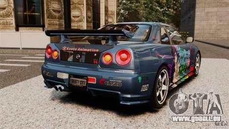 Nissan Skyline GT-R NISMO S-tune pour GTA 4 Vue arrière de la gauche