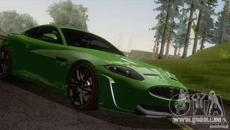 Jaguar XKR-S 2011 V1.0 für GTA San Andreas Rückansicht