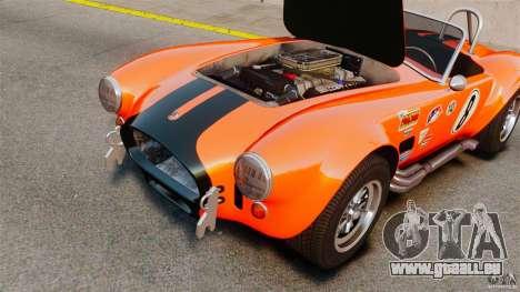 AC Cobra 427 pour GTA 4 Vue arrière