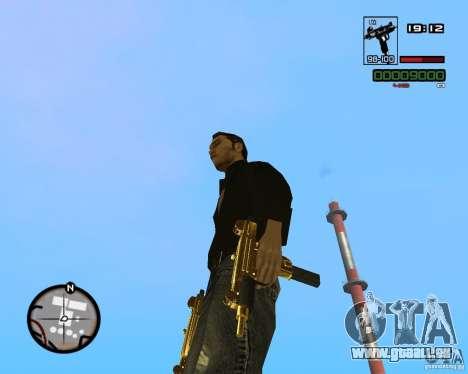 Micro Uzi Gold pour GTA San Andreas troisième écran