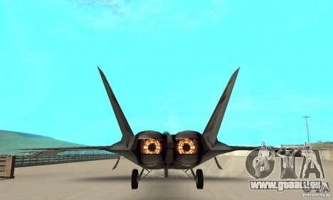 F-22 Starscream für GTA San Andreas Innenansicht