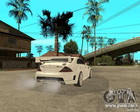 MERCEDES CLS 63 AMG TUNING pour GTA San Andreas sur la vue arrière gauche