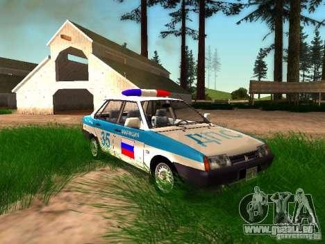 VAZ 2109 Police pour GTA San Andreas salon