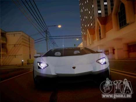 Lamborghini Aventador LP700-4 Roadstar pour GTA San Andreas vue de droite