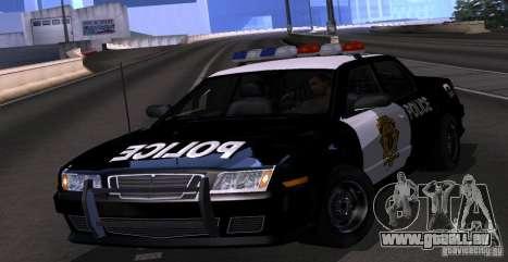 NFS Undercover Police Car für GTA San Andreas