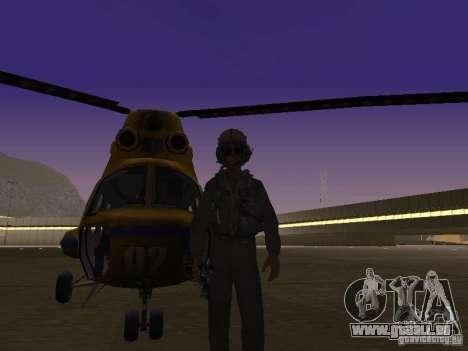Mil Mi-2 Polizei für GTA San Andreas linke Ansicht
