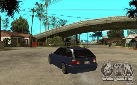 BMW M5 E39 530tdi Touring pour GTA San Andreas sur la vue arrière gauche