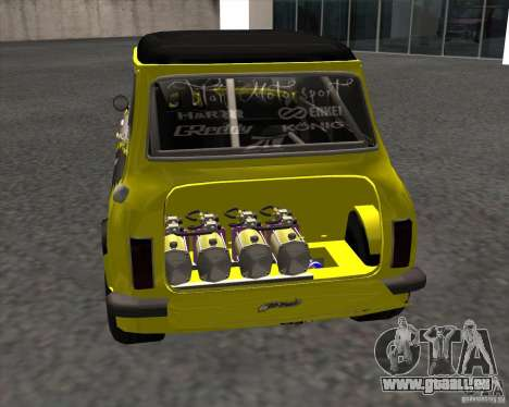 Mini Cooper S Titan Motorsports pour GTA San Andreas sur la vue arrière gauche