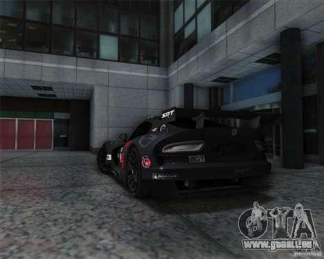 SRT Viper GTS-R V1.0 pour GTA San Andreas vue de droite