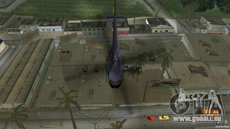 Maverick Bell-Huey für GTA Vice City Rückansicht