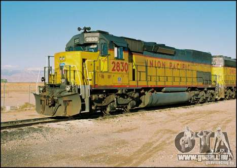 Lokomotive SD 40 Union Pacific für GTA San Andreas rechten Ansicht