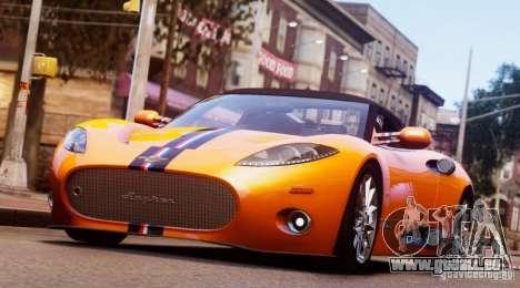 Spyker C8 Aileron Spyder Final pour GTA 4
