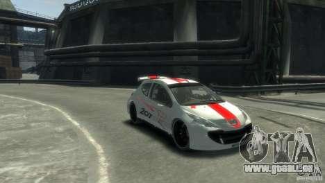 Peugeot 207 pour GTA 4 Vue arrière de la gauche