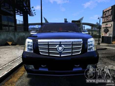 Cadillac Escalade v3 pour GTA 4 Vue arrière
