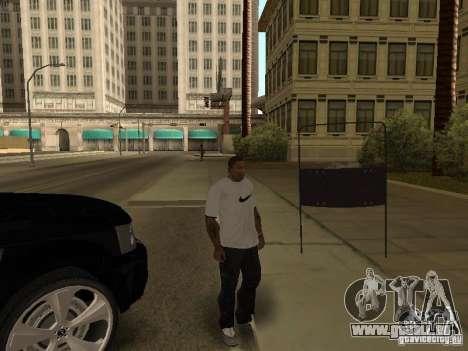 Bouclier armure de Call of Duty Modern Warfare 2 pour GTA San Andreas quatrième écran