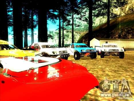 Toyota Tundra Rally pour GTA San Andreas vue de dessus