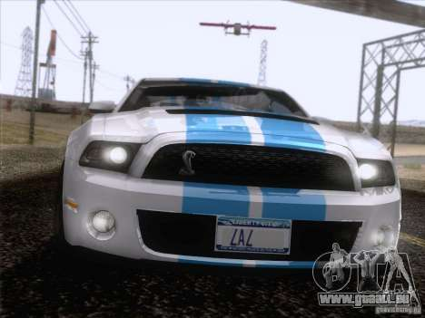 Ford Shelby Mustang GT500 2010 pour GTA San Andreas salon