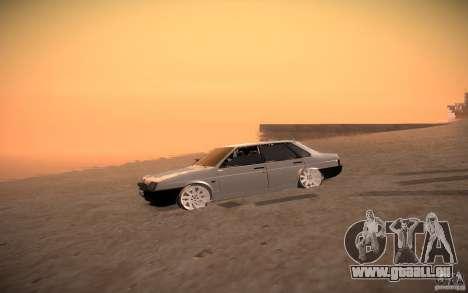 VAZ 21099 LifeStyle Tuning pour GTA San Andreas vue arrière