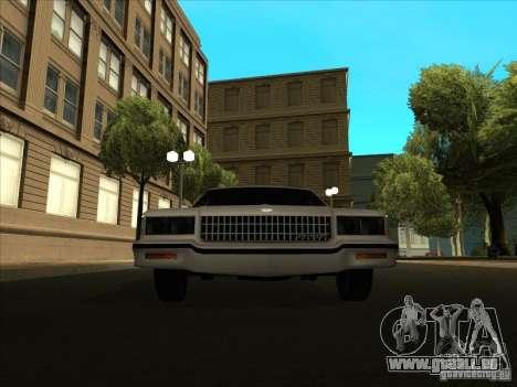 Chevrolet Caprice 1986 für GTA San Andreas zurück linke Ansicht