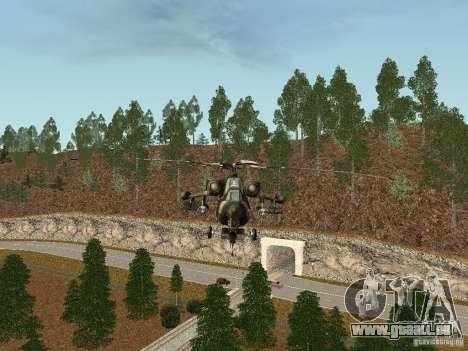 MI 28 HAVOC pour GTA San Andreas sur la vue arrière gauche